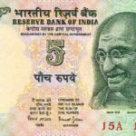 Old note of Rs 5