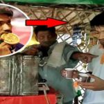 asian medal winner player on tea stall